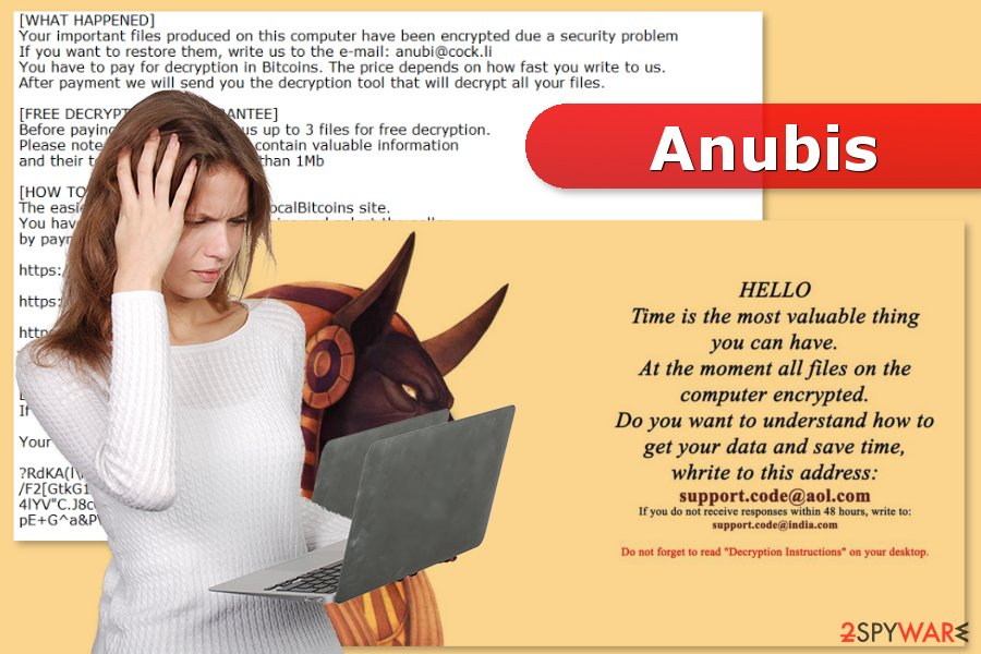 The picture of Anubis ransomware virus