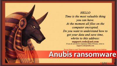 Anubis ransom note