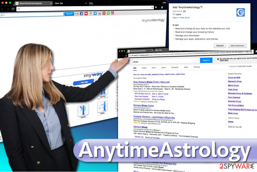Screenshot of AnytimeAstrology Toolbar