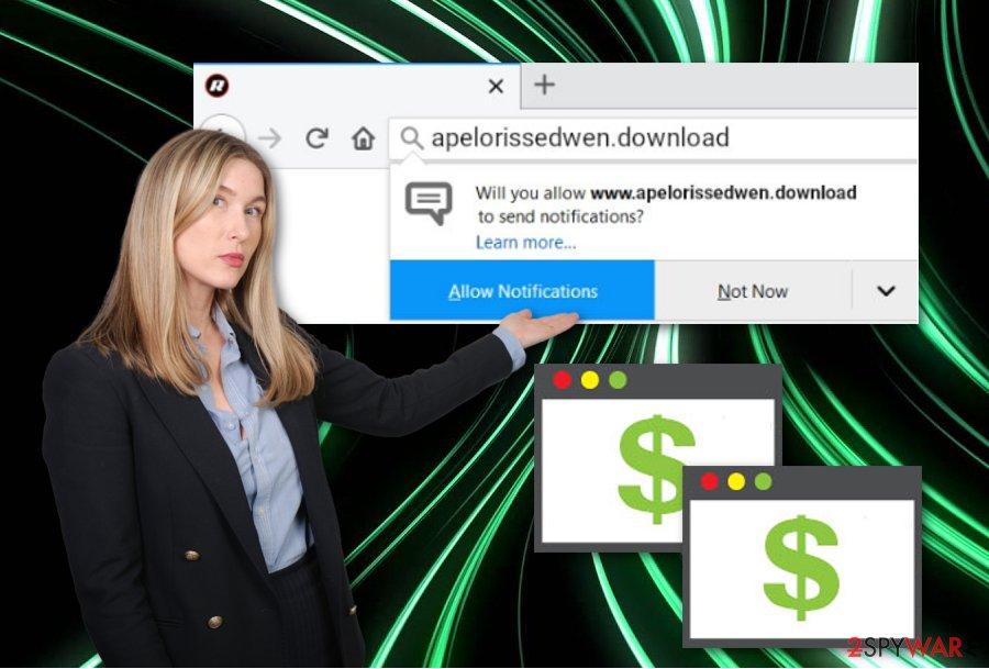 Apelorissedwen.download pop-up ads