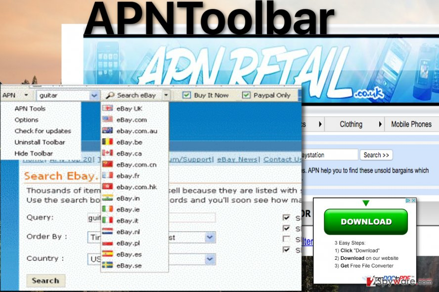 APNToolbar virus picture
