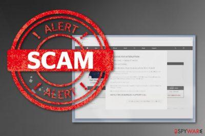 Apologies For Interruption! scam