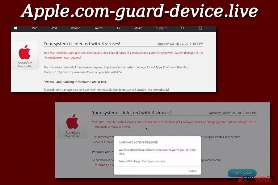 Apple.com-guard-device.live fake
