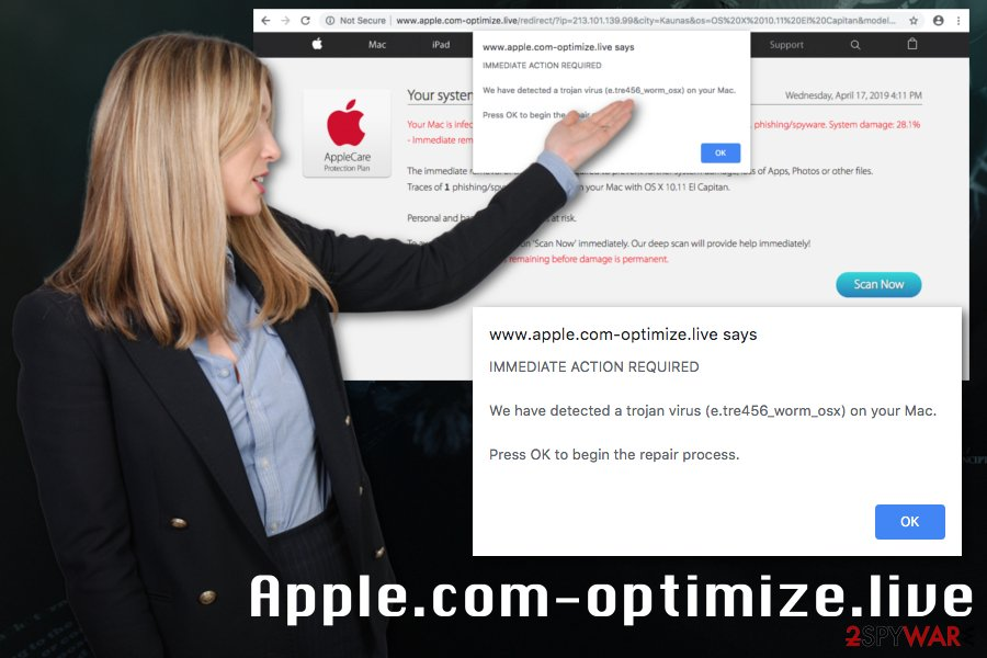 Apple.com-optimize.live virus
