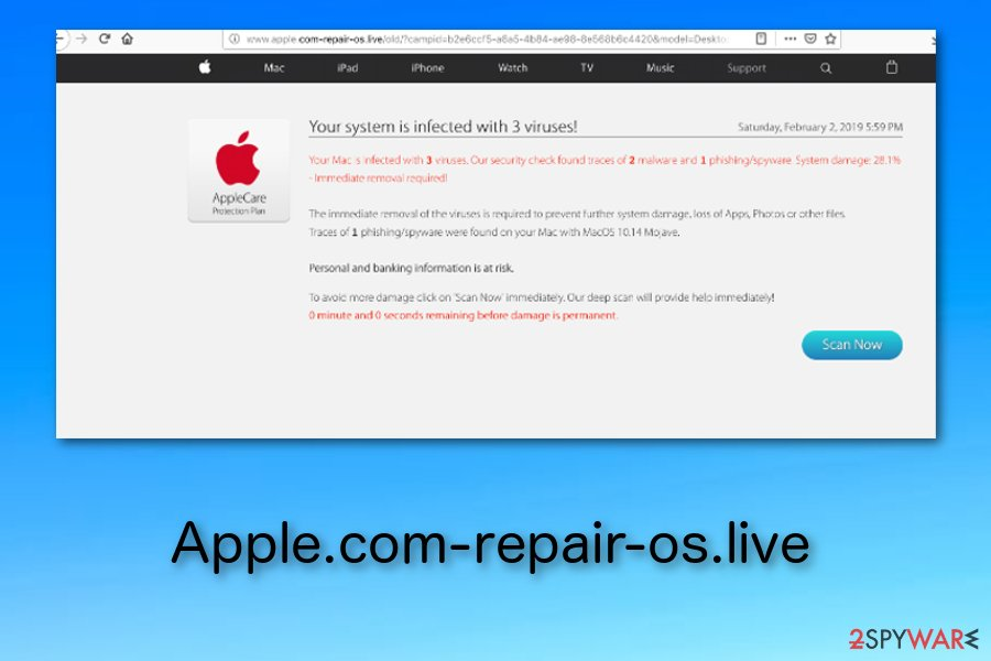 Apple.com-repair-os.live pop-up scam