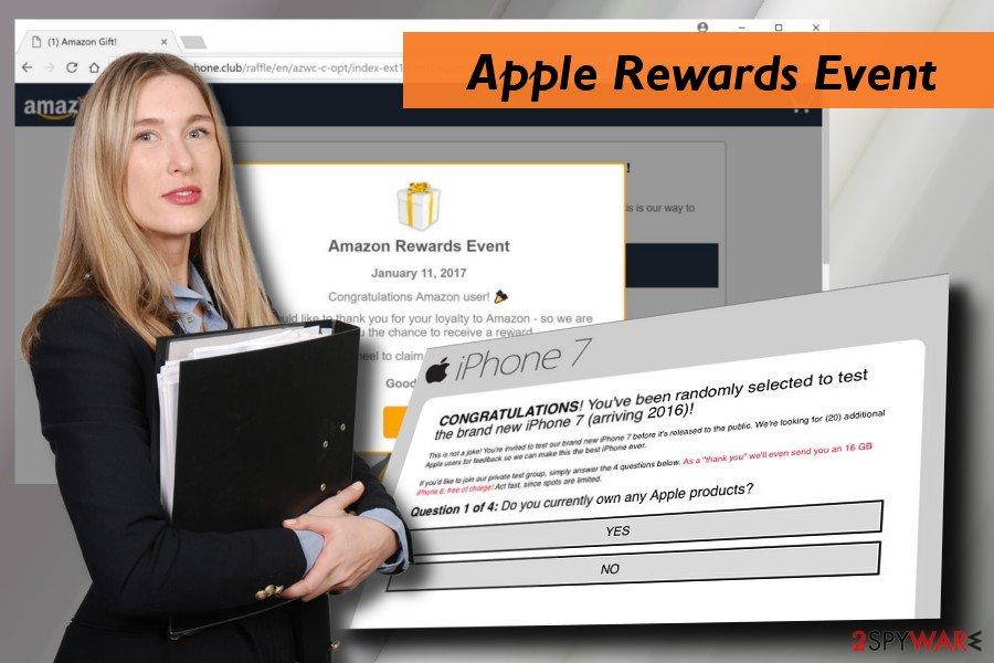 Apple Rewards Event scam example