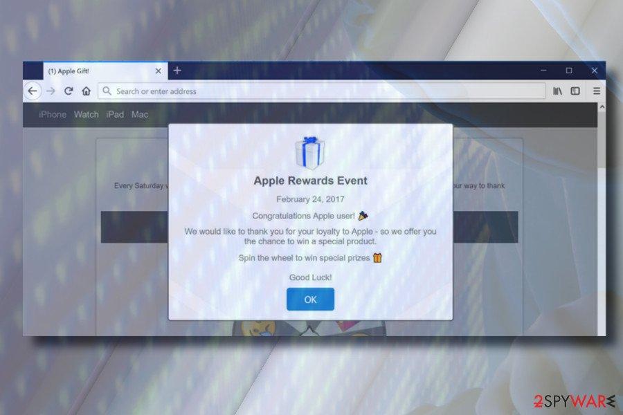 Apple Rewards Event pop-up notifications
