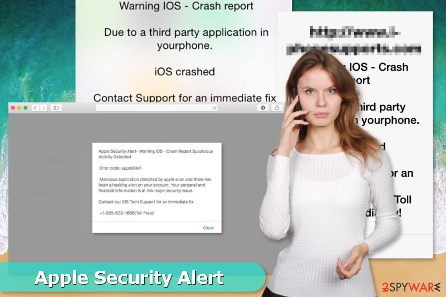 "Examples of ""Apple Security Alert"" scams"