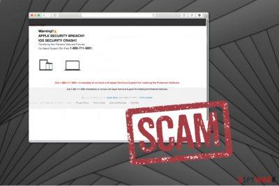 APPLE SECURITY BREACH scam image