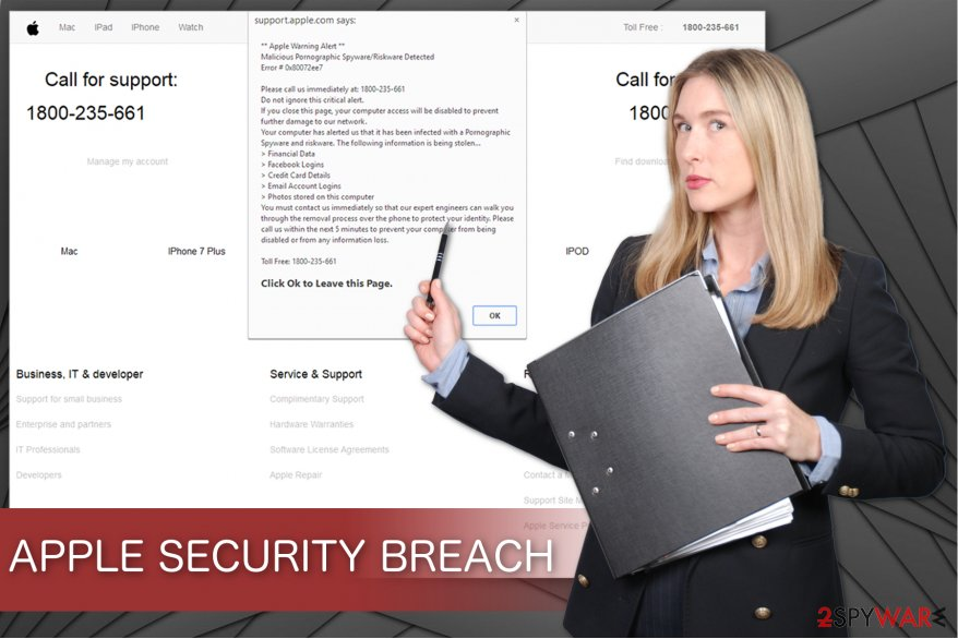 APPLE SECURITY BREACH virus illustration