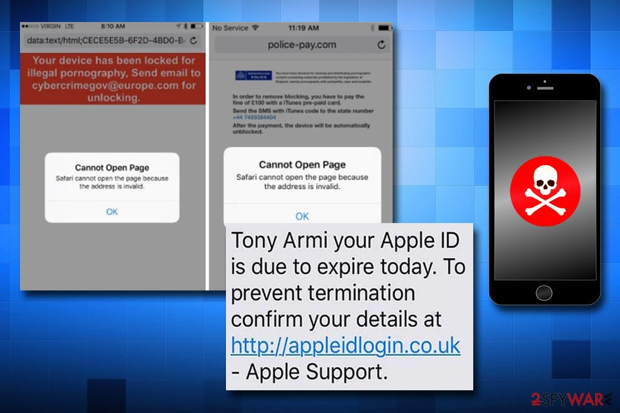 Apple virus scams on iPhones