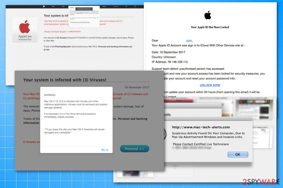 Apple virus scams