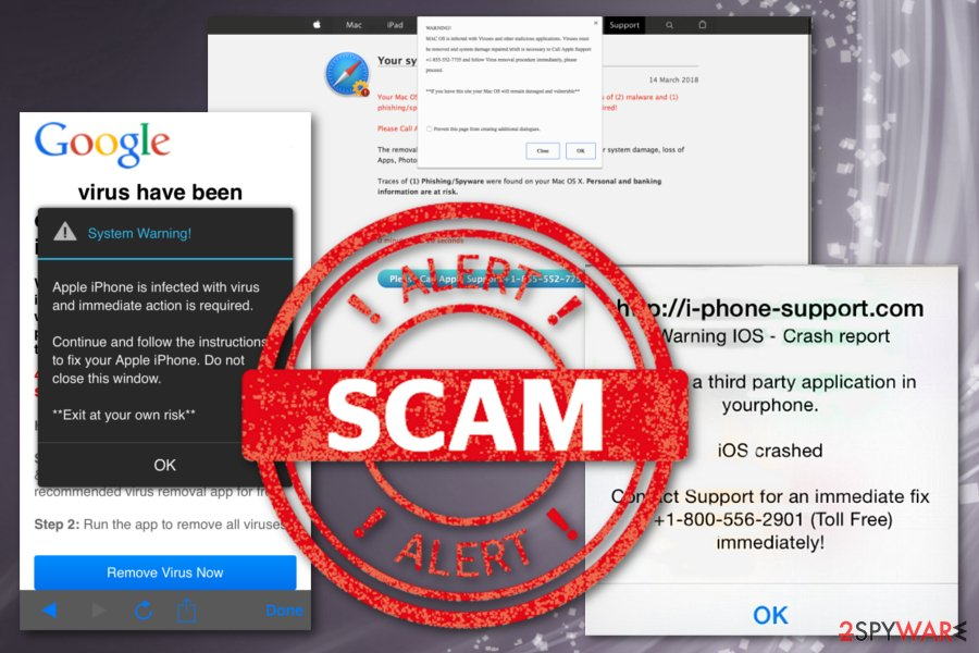 "Apple ""Warning Virus Detected"" pop-ups"