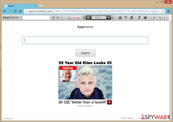 AppMarket Toolbar snapshot