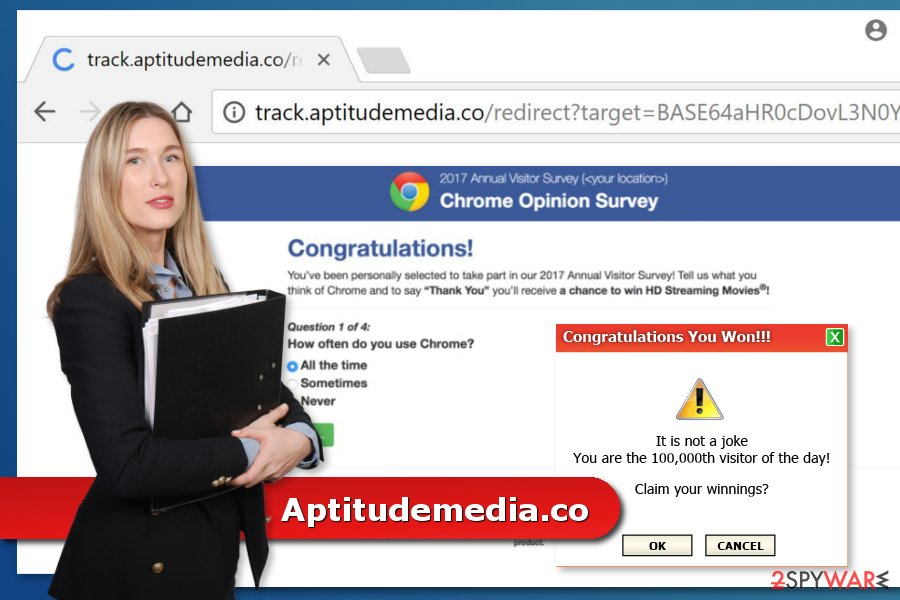 The illustration of Aptitudemedia.co virus