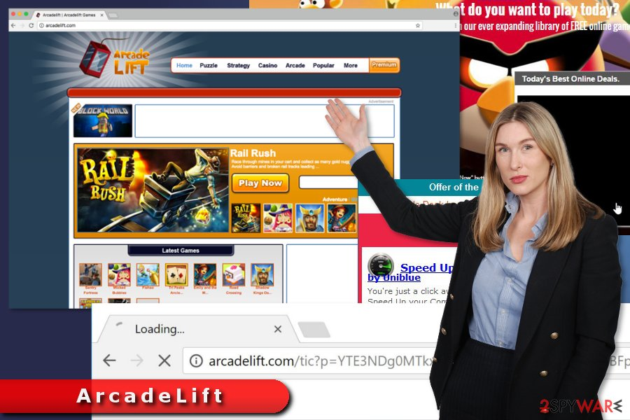 The example of ArcadeLift ads