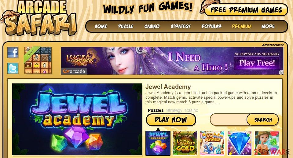 Arcade Safari ads