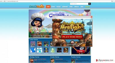 The image showing ArcadeTropics ads