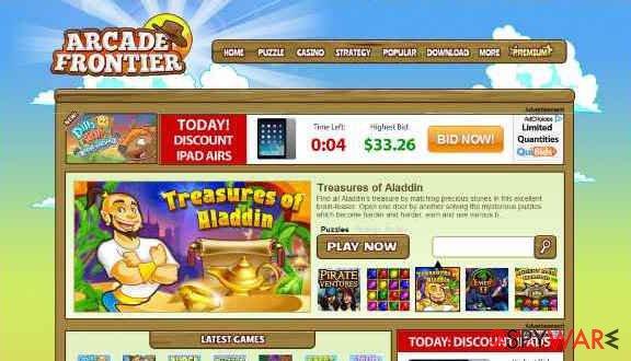 Arcade Frontier snapshot