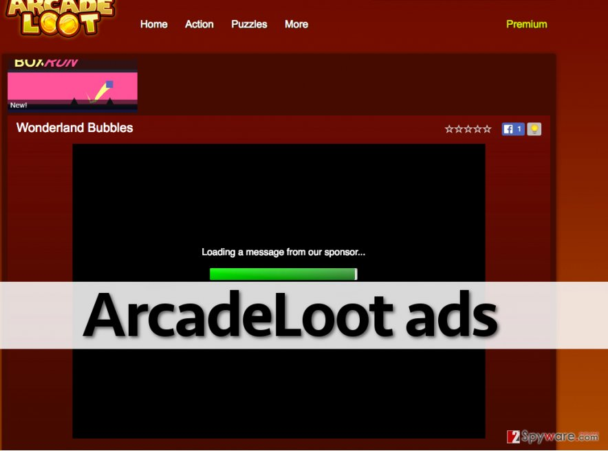 ArcadeLoot ads can show up on various websites
