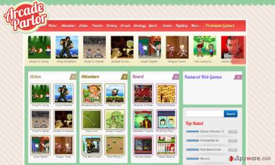 ArcadeParlor page