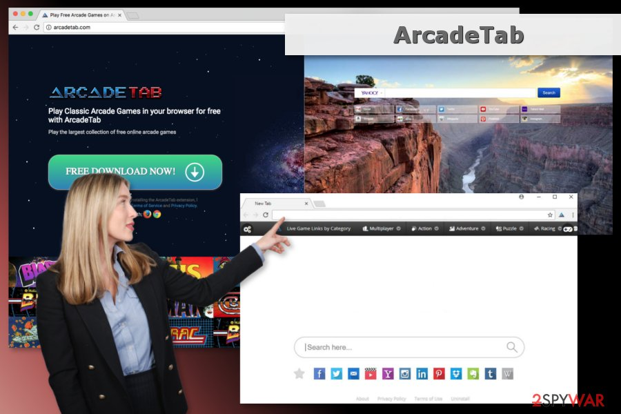 Picture of ArcadeTab adware
