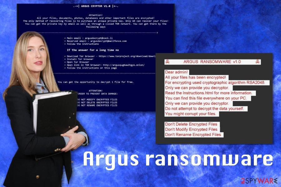 Argus ransomware virus