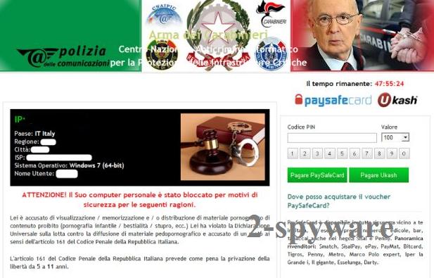 Arma dei Carabinieri virus snapshot