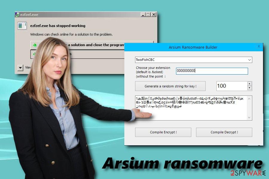 Arsium ransomware builder