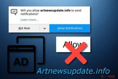 Artnewsupdate.info adware-type program