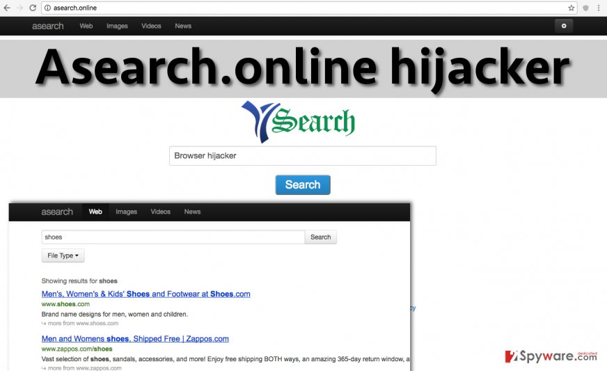 The example of Asearch.online hijack