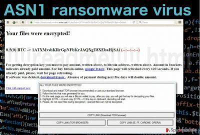 Image of the ASN1 ransomware virus