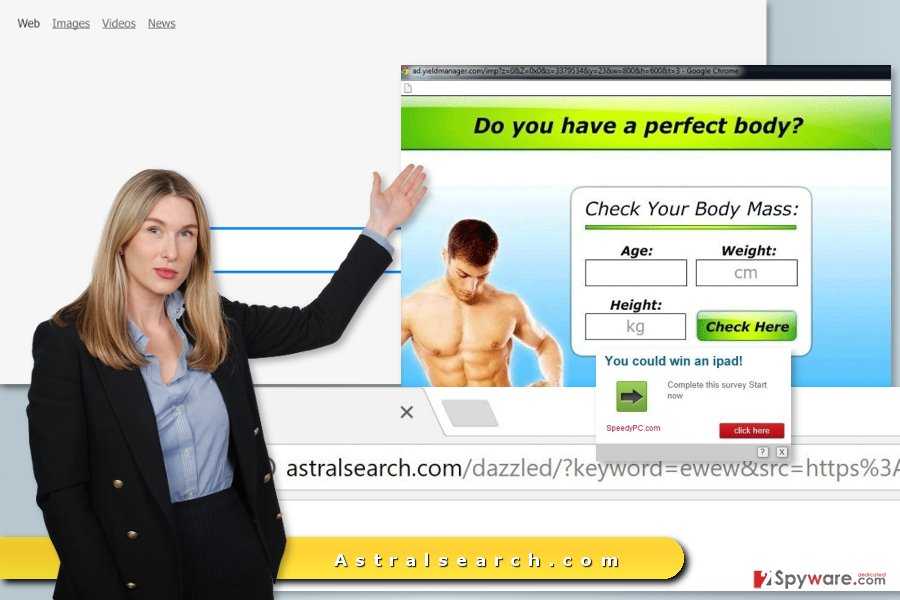 The picture of Astralsearch.com virus