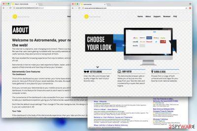 Astromenda fake search engine