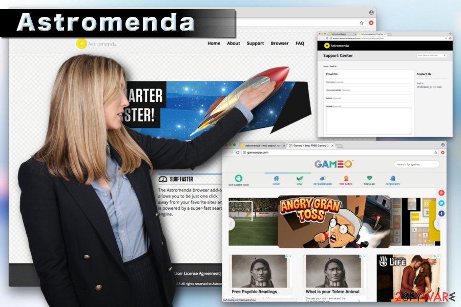 Astromenda browser hijacker