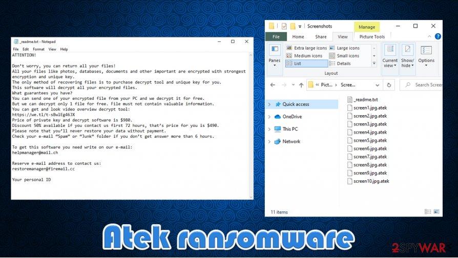 Atek virus files