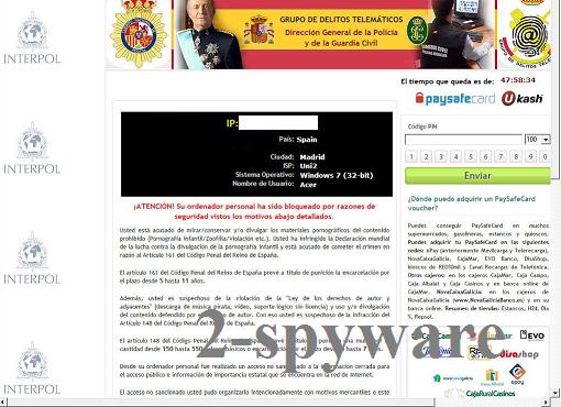 Atención! Su navegador ha sido bloqueado snapshot