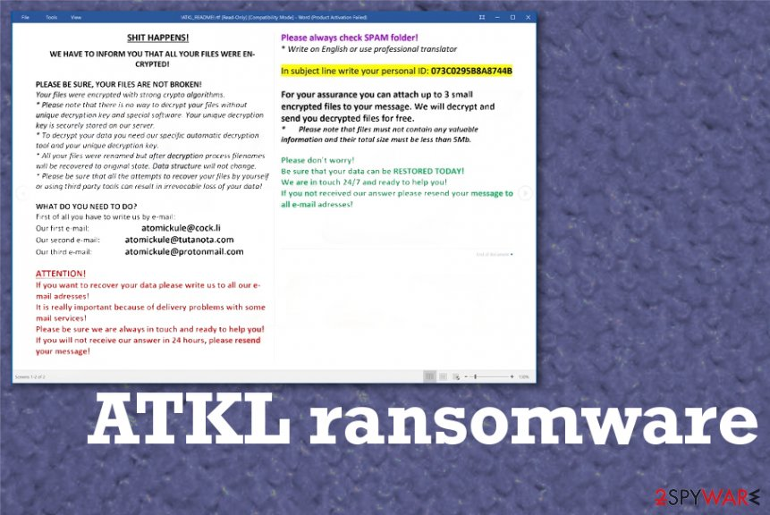 ATKL ransomware