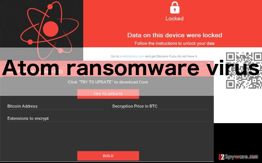 An image of Atom ransomware