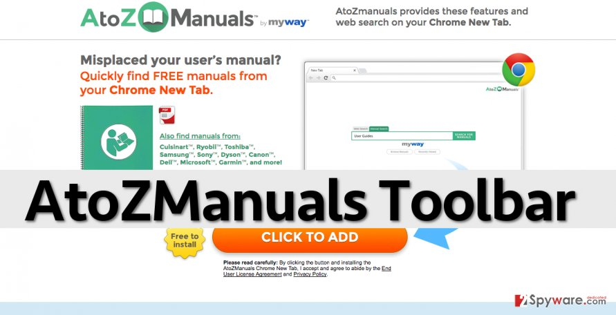 AtoZManuals Toolbar
