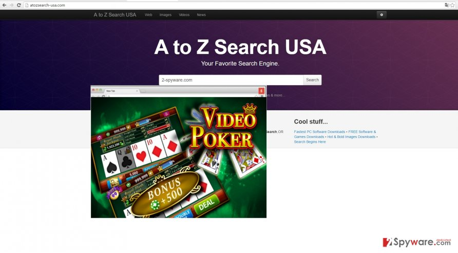 The screenshot of atozsearch-usa.com