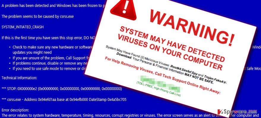 Examples of fake messages by Atpops.online virus