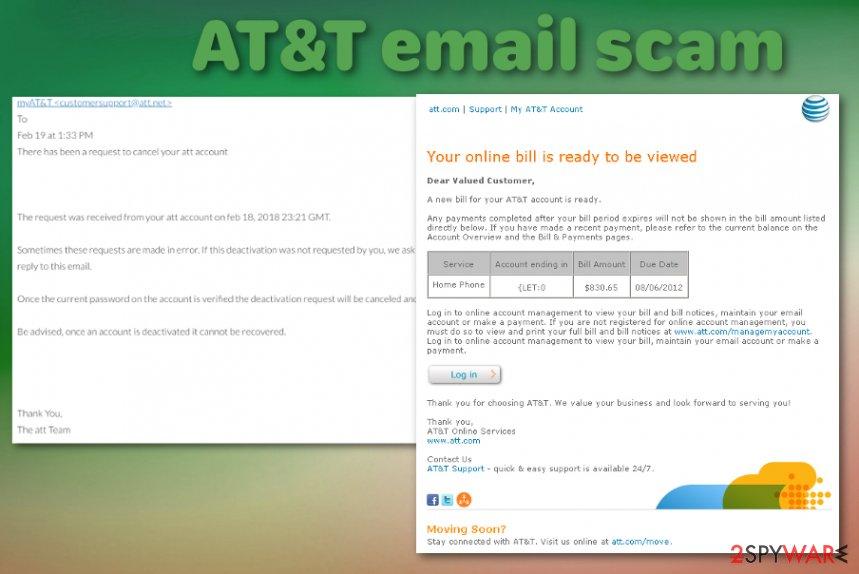 ATT email scam