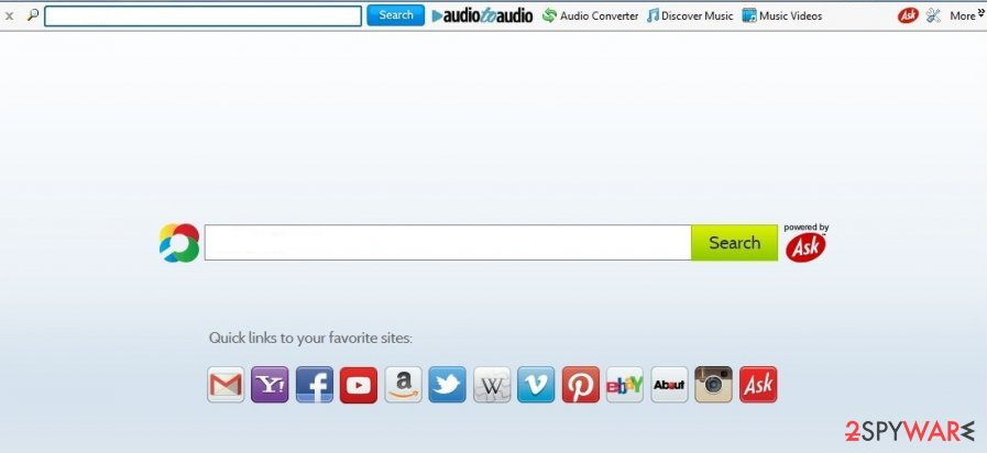 Audio To Audio Toolbar search website