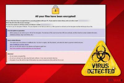 Audit ransomware virus