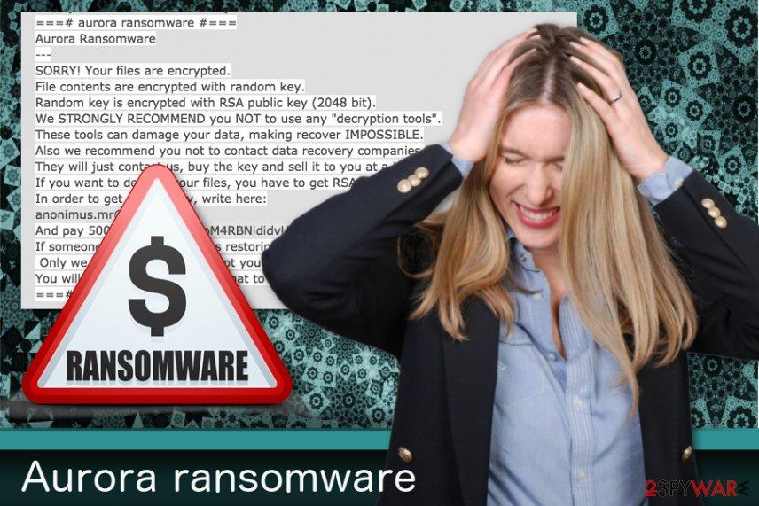 Aurora ransomware virus picture
