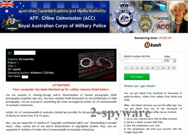 Australian Communications and Media Authority virus snapshot