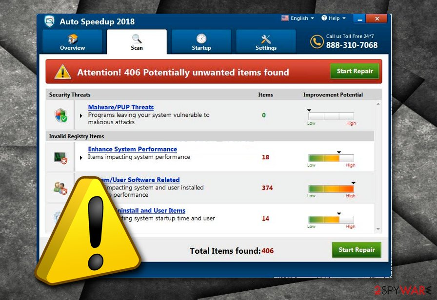Auto Speedup 2018 fake optimization tool