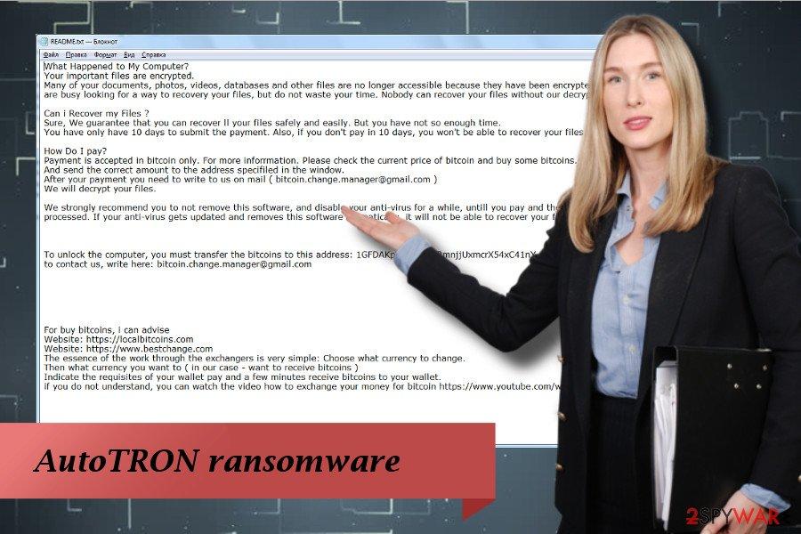 AutoTRON - malicious crypto ransomware virus