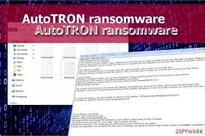AutoTRON ransomware locks data